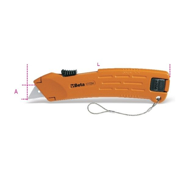 Safety utility knife with retractable blade