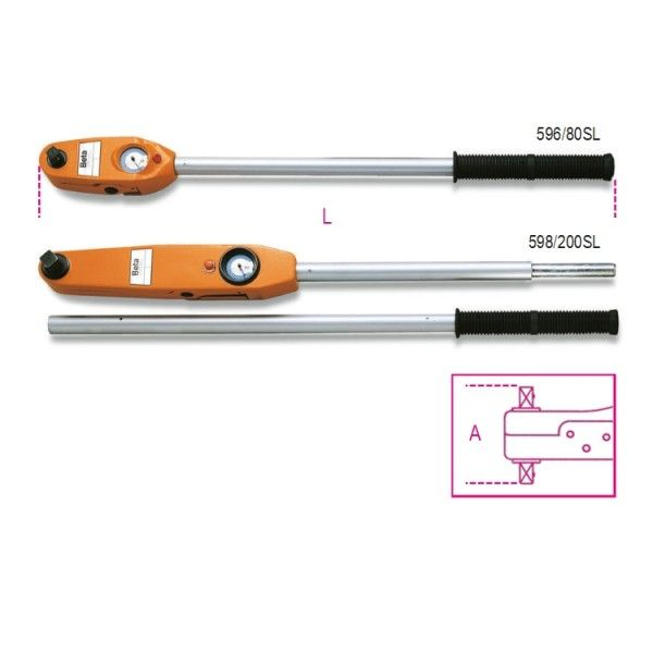 Direct reading torque wrenches