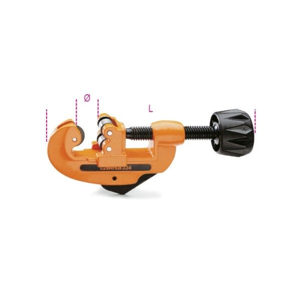 Pipe cutter for copper and light alloy pipes