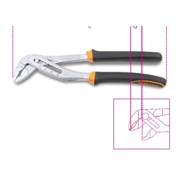 Slip joint pliers, boxed joint