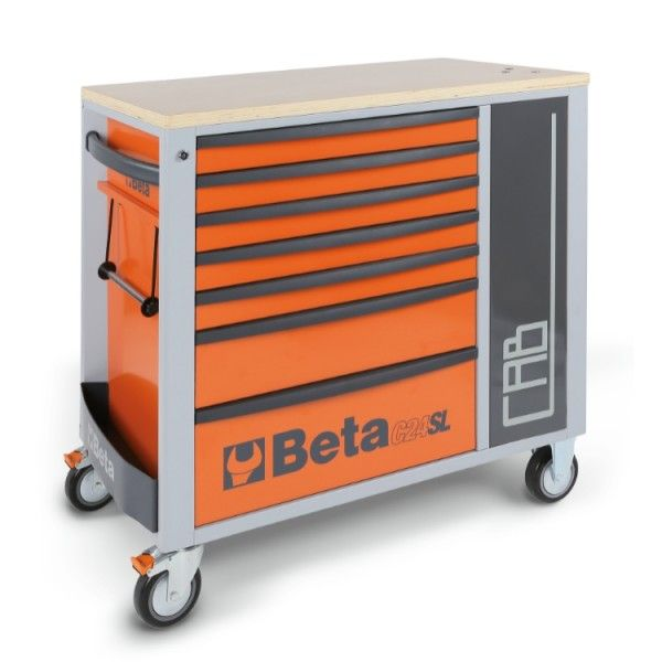 Mobile roller cab, seven drawers, tool cabinet