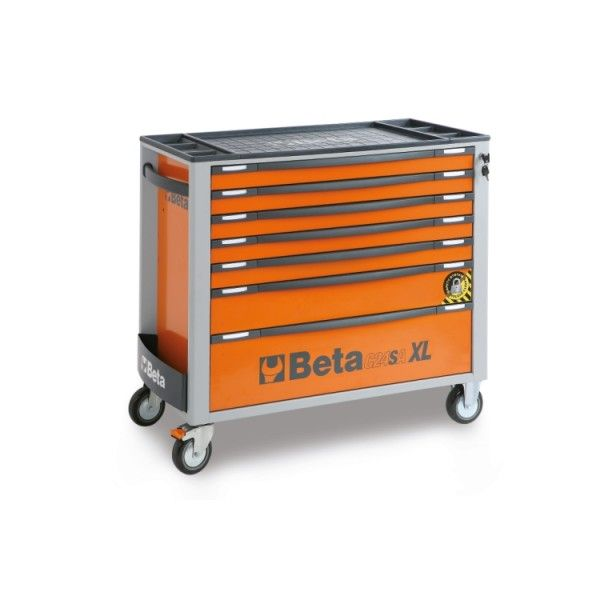 Mobile roller cab, 7 drawers, anti-tilt system