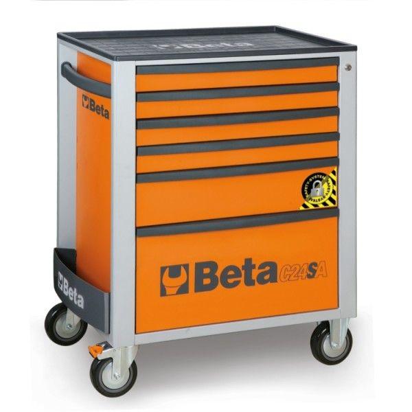 Mobile roller cab, six drawers; anti-tilt system