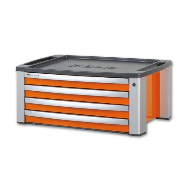 Portable tool chest with four drawers