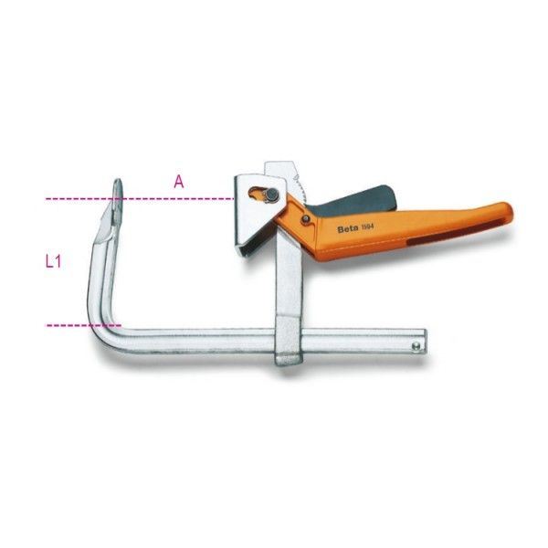 Lever bar clamps