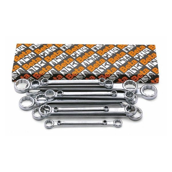 Double ended flat ring wrenches
