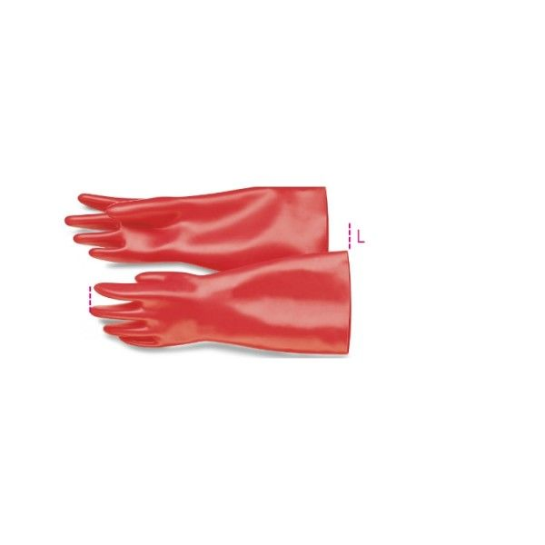 Insulating gloves in latex