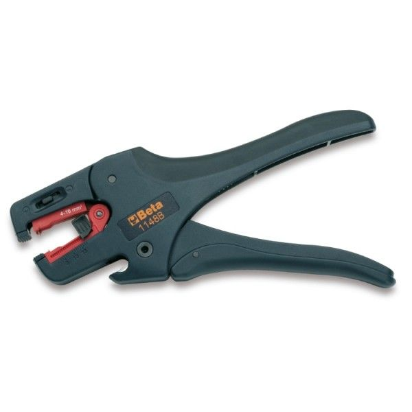 Wire stripping pliers, self-adjusting