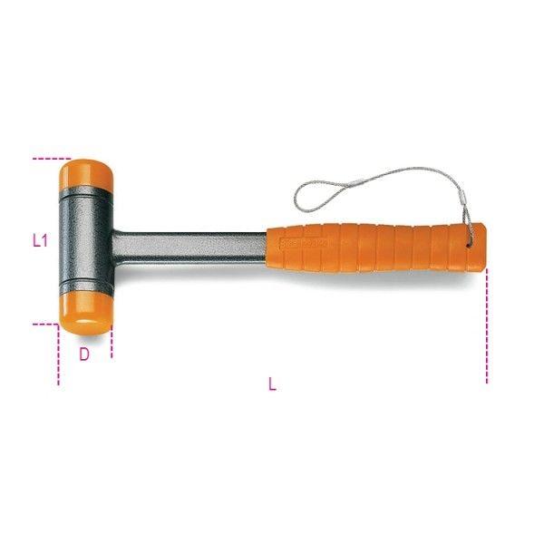 Dead-blow hammers, interchangeable plastic
