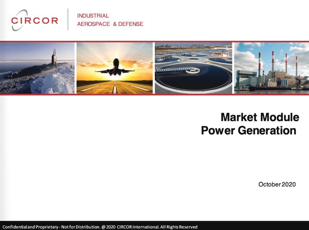 Market Module - Power Generation