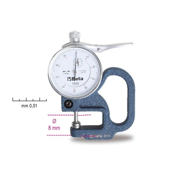 Thickness gauge, dial indicator