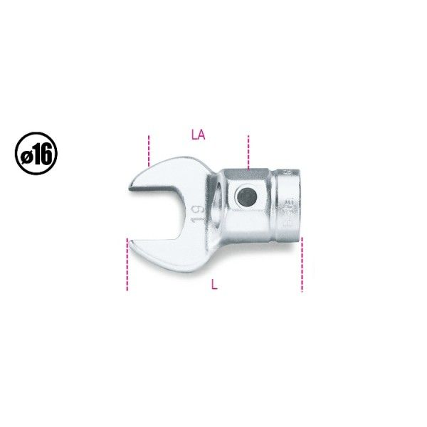Open jaw wrenches for torque bars