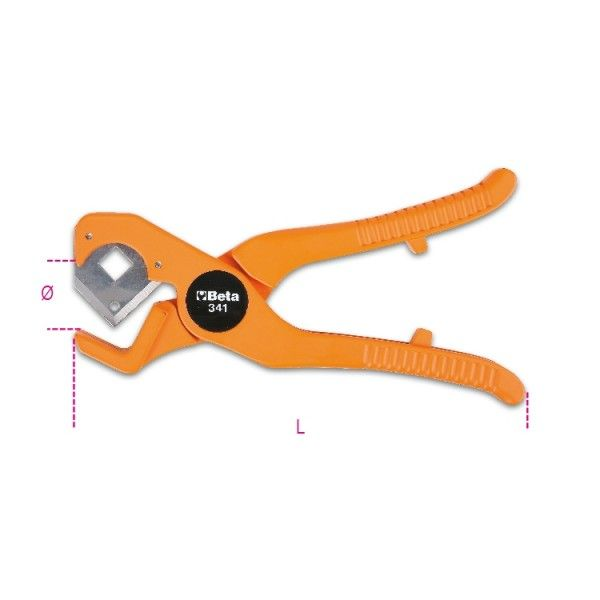 Pipe cutting pliers for plastic pipes