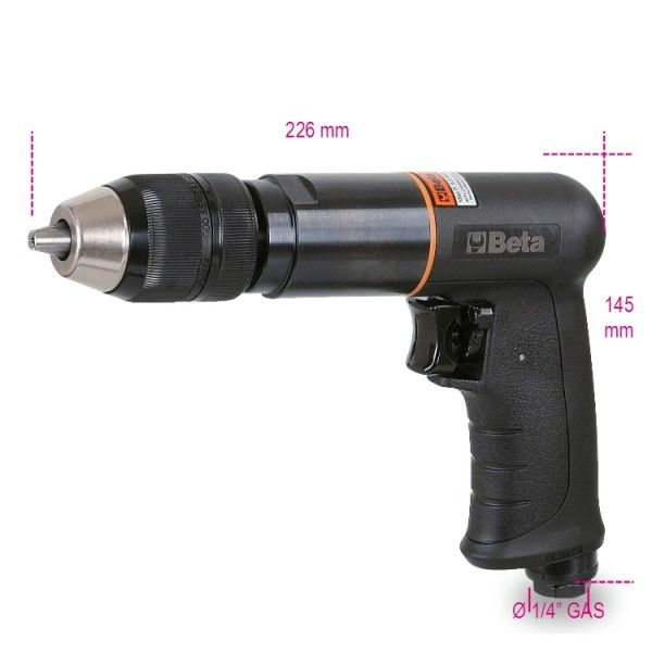 Reversible drill, made from composite