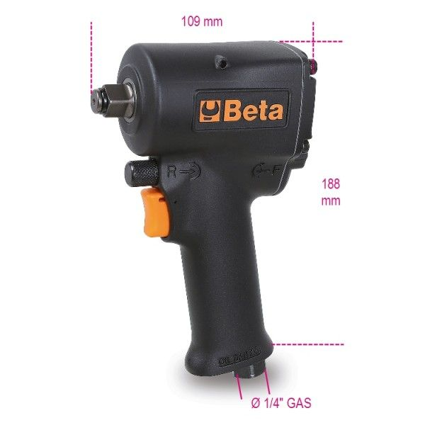 Compact reversible impact wrench
