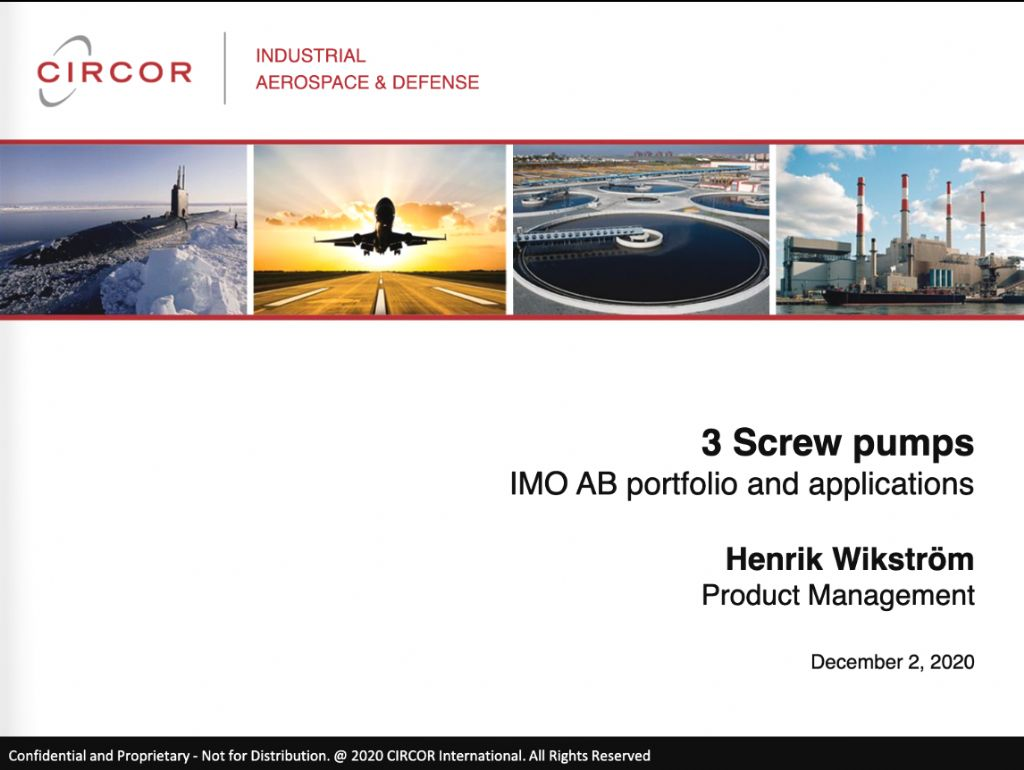 Pumps Technology - 3 Screw IMO AB