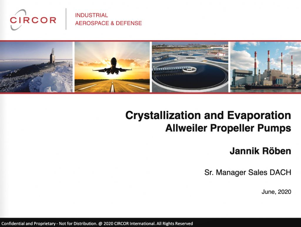 Propeller pumps in Crystallization and Evaporation