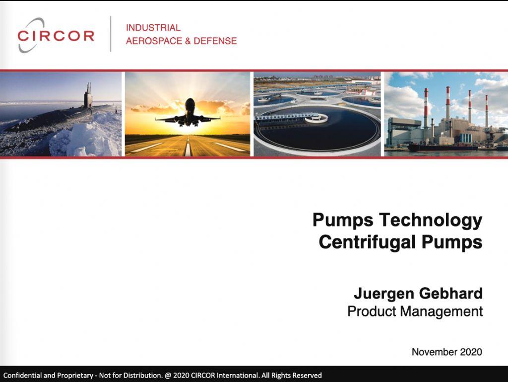 Pumps Technology - Centrifugal Pumps