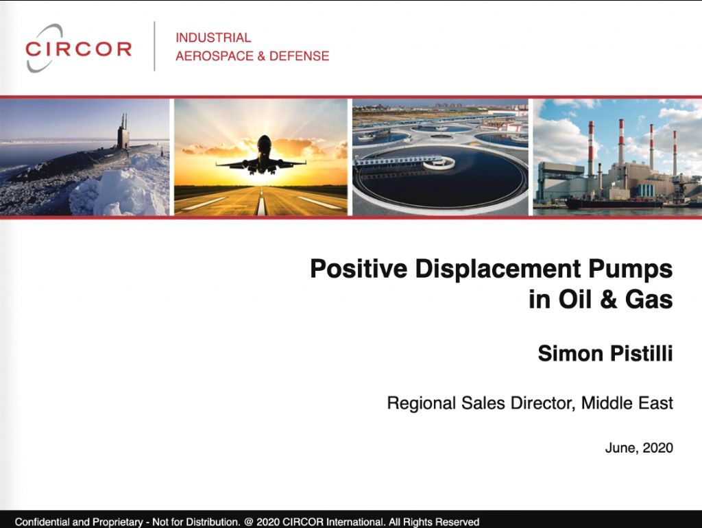 Positive Displacement Pumps in Oil &Gas