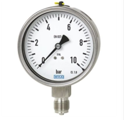 Bourdon tube pressure gauge, Models 232.50, 233.50