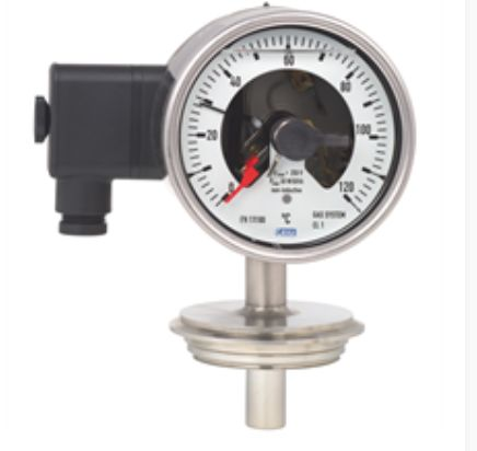 Gas-actuated thermometer with switch contacts Model 74-8xx