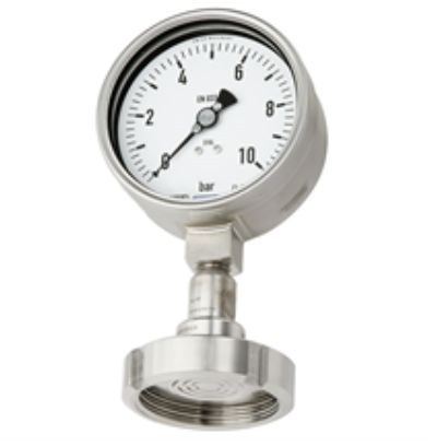 Pressure gauge EN 837-1 with mounted diaphragm seal