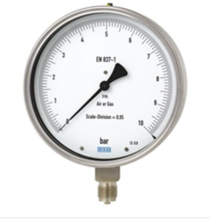 Test gauge, stainless steel Models 332.50, 333.50