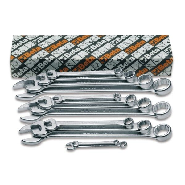Set of 13 combination wrenches