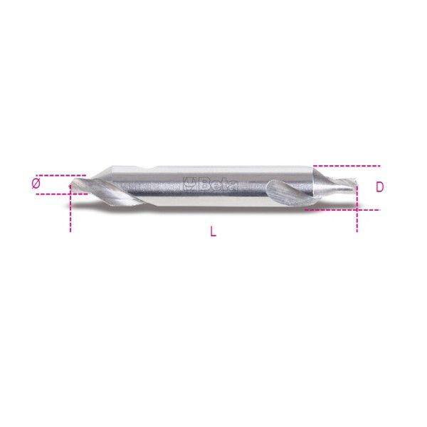 Ground centre drill bits, 60° countersink angle