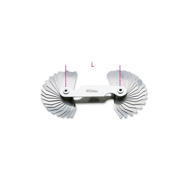 Radius gauges, convex steel blades