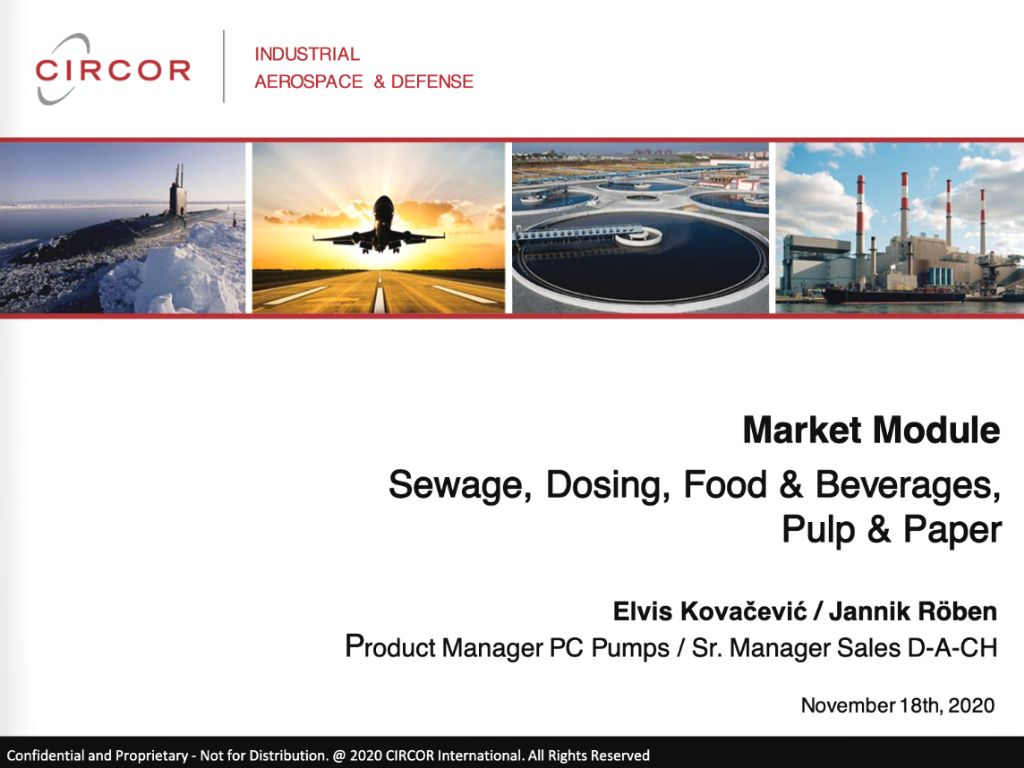 Market Module - Sewage Dosing Food and Beverages, Pulp and Paper