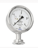 Diaphragm pressure gauge, flush