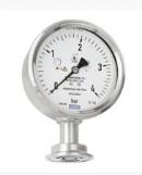 Diaphragm pressure gauge, flush