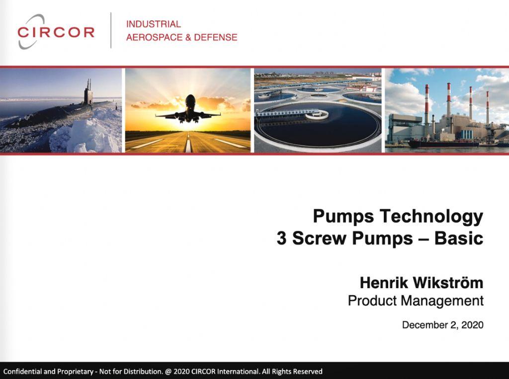 Pumps Technology - 3 Screw Basic