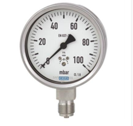 Capsule pressure gauge, stainless steel